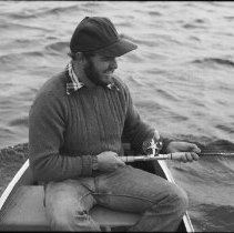 Image of 4413 - Fishing for lake trout, 1977.
