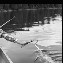 Image of 1977 - Fishing for lake trout, 1977.