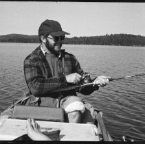 Image of 4416 - Fishing for lake trout, 1977.