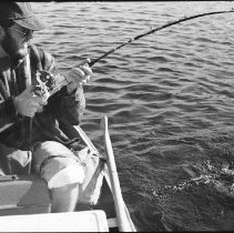 Image of 4420 - Fishing for lake trout, 1977.