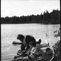 Image of 4427 - Lake survey crew at work, 1977.