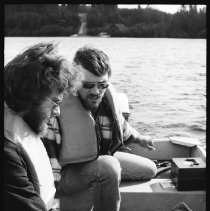 Image of 4436 - Lake survey crew at work, 1977.