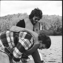 Image of 4442 - Lake survey crew at work, 1977.