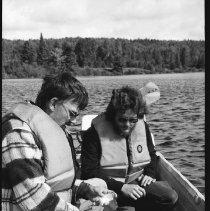 Image of 4443 - Lake survey crew at work, 1977.