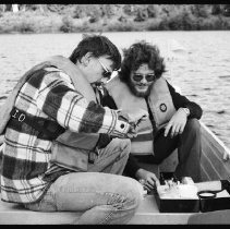 Image of 4444 - Lake survey crew at work, 1977.