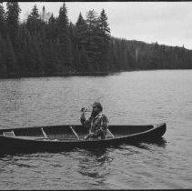 Image of 4453 - Pete Ward fishing, Tea Lake