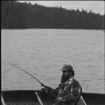 Image of 4456 - Pete Ward fishing, Tea Lake