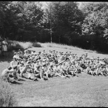 Image of 4559 - Naturalist J. Guertin speaking to girl guides at the Alg. Pk. Museum
