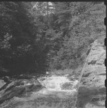 Image of July 1977 - The lower half of Crooked Chute on the Bonnechere River