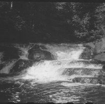 Image of July 1977 - The falls above Crooked Chute on the Bonnechere River