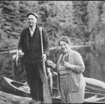 Image of 4826 - Ken and Mrs. Unger with a catch of fish