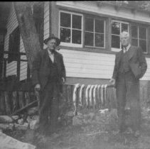 Image of 4834 - Ken Unger and Joe Armstrong at the Armstrong's cottage on Cache Lake