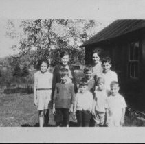 "Image of 4854 - ""My (Mary Colson) first school"".  S.S. No.1, Peck Twp., Canoe Lake"
