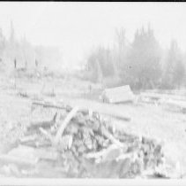 Image of 4875 - A dynamite blast, during the highway construction, near Camp #1