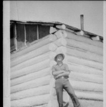 Image of 4888 - Jim Murray, at Camp #2, Smoke Lake