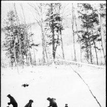 Image of 4891 - Wood cutting crew, Camp UX2B3, Dorset