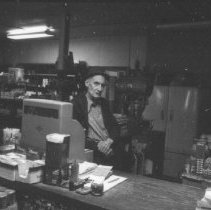 Image of November 1979 - Gerry McGaughey inside his store