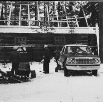 Image of 5016 - Putting a new roof on the Kitty Lake cabin