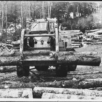 Image of 5146 - Operating a loader, on a landing, in the bush near Kiosk