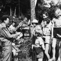 Image of 5179 - Al Helmsley, with a group of girls from Camp Tanamakoon.