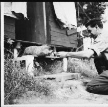 Image of 1950 - Al Helmsley and George (the groundhog)