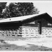 Image of 5422 - Algonquin Park Museum under construction.