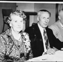 Image of 1959 - Mr. & Mrs. George Phillips during his retirement banquet, Huntsville, Sept. 26, 1959.