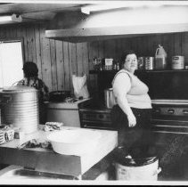 Image of 5565 - Cook at a J.R. camp (Achray or Kiosk), 1979.