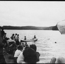 Image of 5566 - J.R.'s practicing canoeing skills, 1979.