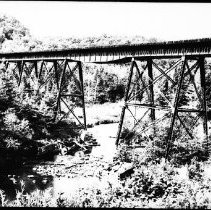 Image of 5598 - The big trestle between Cache Lake and Lake of Two Rivers.
