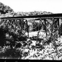 Image of 5610 - The big trestle between Cache Lake and Lake of Two Rivers.