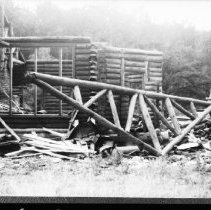 Image of 5635 - Tearing down the Turtle Club, Lake Traverse, c. 1979.