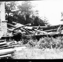 Image of 5636 - Tearing down the Turtle Club, Lake Traverse, c. 1979.