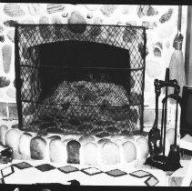 Image of 1976 - The fireplace at Kish-Kaduk Lodge, Cedar Lake, 1976.