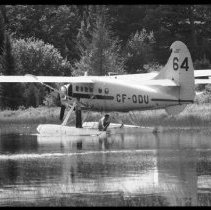 Image of 5661 - George Campbell with the Otter, CF-ODU, on Found Lake, September 8, 1980.