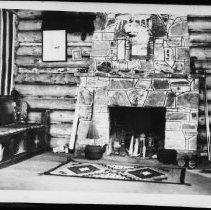 Image of 5693 - Inside view of leaseholder Frank Braught' cabin, Canoe Lake.