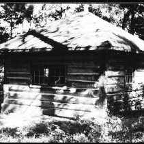 Image of 1980 - The old ranger cabin at Pine Lake, June 1980.