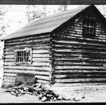 Image of 5745 - The old ranger cabin at McKaskill Lake, June 1980.