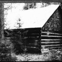 Image of 5752 - The old ranger cabin at Kitty Lake, June 1980.