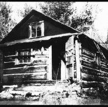 Image of 1980 - The ranger cabin at Lost Coin (McSurley) Lake, October 1980.