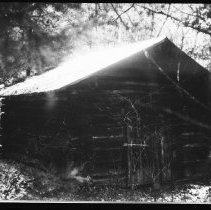 Image of 5783 - The stable at the Twelve Mile Cabin, Bissett-Radiant road, October 1980.