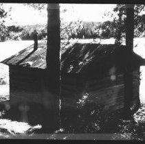 Image of 5787 - The ranger cabin at Wenda Lake, October 1980.