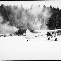 Image of 5811 - burning lumber camp at Misty Lake
