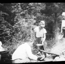 Image of boys from camp Pathfinder cooking