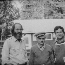 Image of 1981 - Mike Buss, Prof. Zbigniew Jaczewski, Peter Smith at Wildlife Research Station