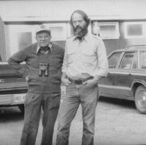 Image of 1981 - Tony Bubenik and Mike Buss at Wildlife Research Station