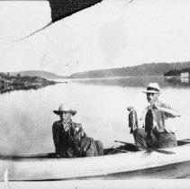 Image of 5945 - Peter Gosselin bass fishing at Brule Lake