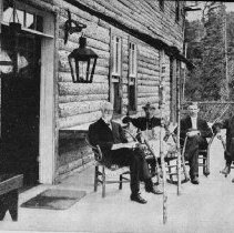 Image of On the verandah of Hotel Algonquin, Joe Lake