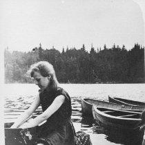 Image of 5988 - Virginia Robinson washing at Camp Northway