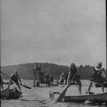 Image of 1918 - Canoe Races, Camp Northway (Cache Lake)